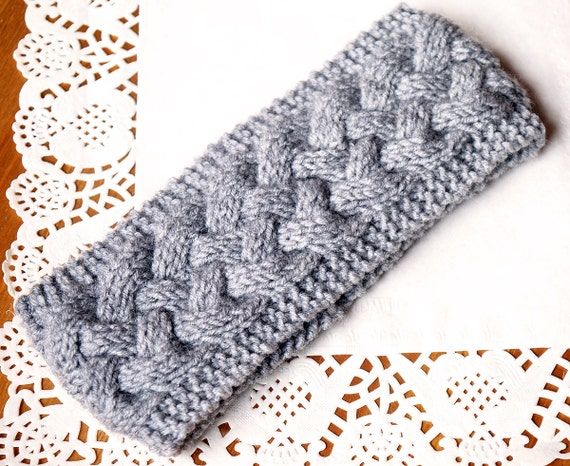 Hand knitted chunky winter headband ear warmer cable knit hand knitted chunky winter headband ear warmer cable knit headband gray knit head wrap knitted ear warmer chunky braided headband dt1010fo