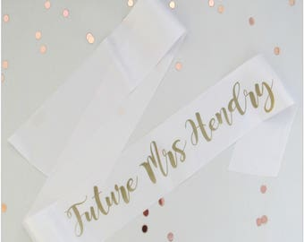 Personalised and fully customisable wedding hen do sash, bride to be or bride tribe, bridesmaids