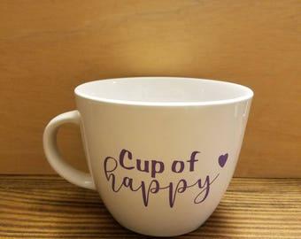 Cup of happy 16 oz coffee mug