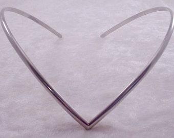 Simple Circlet Headband Silver