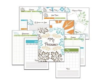 Pregnancy Journal - Pregnancy Scrapbook - Digital Download - Printable Calendar - Printable Journal - Baby Name List