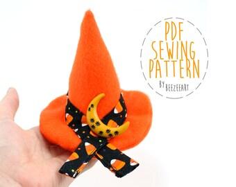 Plush Witch Hat Stuffed Toy Sewing Pattern PDF