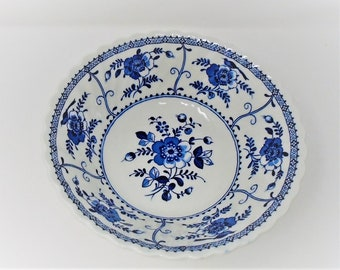 Johnson Brothers Indies Large Serving Bowl / Dish blue and white