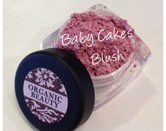 BABY CAKES BLUSH Organic Minerals  Beauty Cosmetics All Natural Vegan Soft Pink Rose Shade