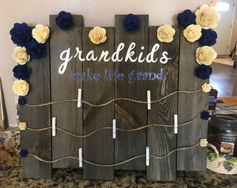 Customized board to hang pictures on