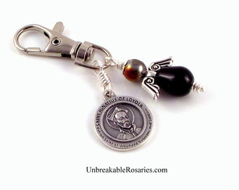 Wounded Veterans and Soldiers Healing Saint Angel Charm St Ignatious Loyola by Unbreakable Rosaries