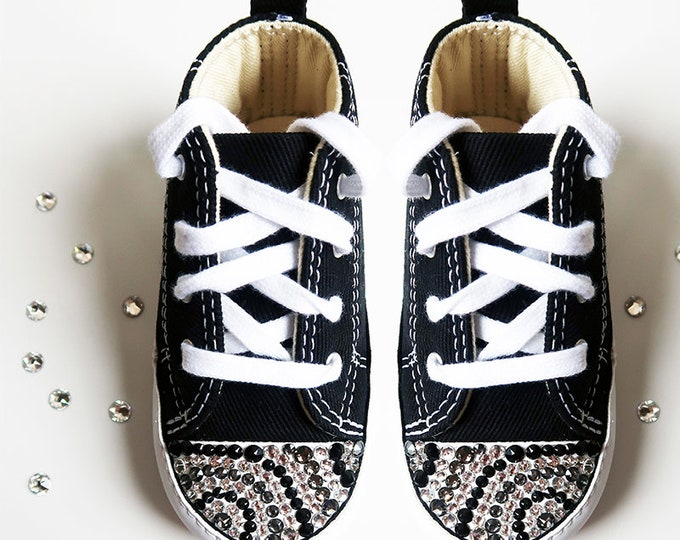 LUXURY Customised Swarovski Crystal Chuck Taylor Converse® First Star® Baby Bootie Embellished With The Finest Swarovski Crystals