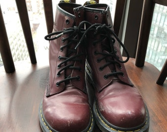 Red Dr Marten Boots