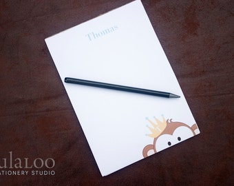 Monkey Prince and Princess Personalized Notepad