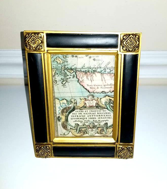 Gold and Black Baroque Frame 5 x 7 Frame Antique Gold Frame