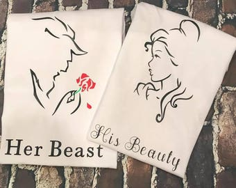 His beauty, Her beast custom tshirt