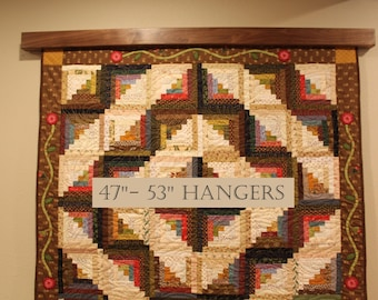 "47"" to 53"" inch Knob-less modern quilt wall hanger"