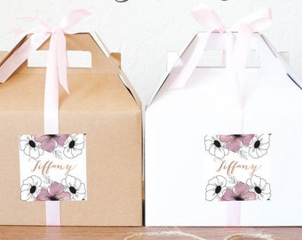 Will you be my Bridesmaid / Maid of Honor Gable Boxes / Bridesmaids' Gift Boxes GBW-15