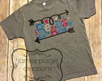 School SPIRIT T-Shirt, School Mascot - BEARS Bulldogs Wildcats - Indians - Tigers - Eagles Cheer Shirt Teacher Shirt, Game Day, Team Shirt