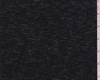Sheer Black Stripe T Shirt Knit, Fabric By The Yard