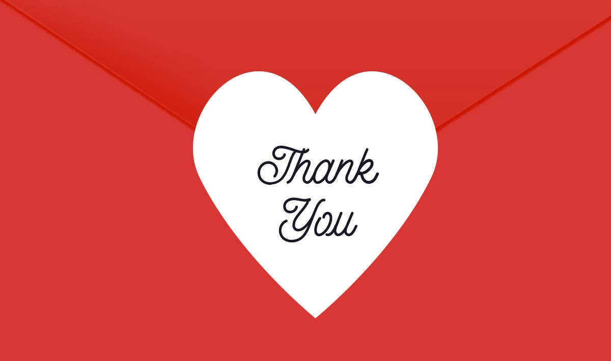 Thank You Heart Stickers, 1.5 inch, Thank You Stickers, Envelope ...