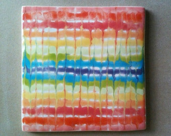 Ceramic trivet, hot pad, art tile
