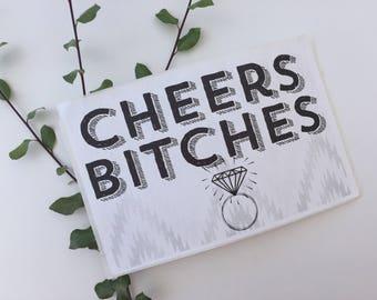 Cheers Bitches Wine Label, Champagne Label, Bachelorette Party Decor, Bachelorette Party Favors, Bridal Party Gift, custom Bottle Label
