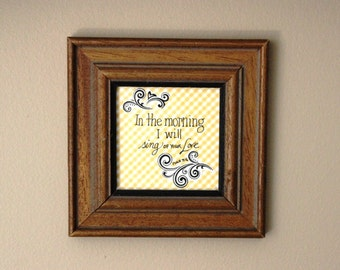 In the Morning Hand Lettered Psalm