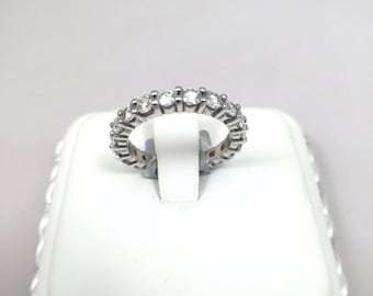Eternity Band, 14k White Gold w/ 2ct (TCW) of Natural Diamonds