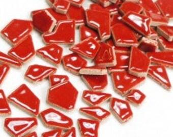 Jigsaw Mosaic Tiles - Red - 100g (3.5 oz)