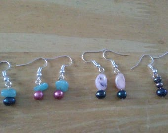 Greens and Pinks Earrings