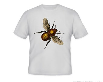 Vintage Bumble Bee Adult Tshirt  -- other tshirt color and personalization available - adult sizes S-3XL