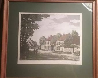 Vintage Print 16x14 Signed by Artist 1953
