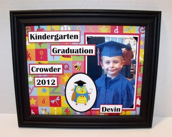 Kindergarten Graduation Photo Keepsake - Personalized - UNFRAMED 8x10 Mat (High School and College Graduation Keepsakes available too)