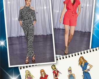 Simplicity 1158 Size 4-12 or 14-22 Misses Project Runway Jumpsuits Sewing Pattern / Uncut/FF