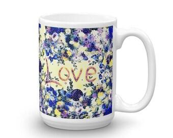 Love Blue Mug