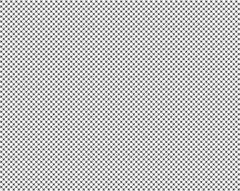 Dot & Dash Black Xs on White by Riley Blake - C6176 WHITE