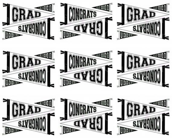 Class of 2018 Graduation - Designer Strips - Edible Cake Side Toppers- Decorate The Sides of Your Cake! - D22815