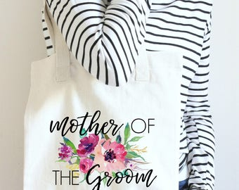 Tote Mother of the Groom, Mother of the Groom Tote Bag, Wedding Tote for Mother of the Groom, Mother of The Groom Gift, MOG Wedding Tote