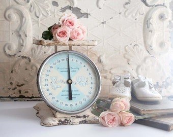 Vintage Scale, Vintage Nursery Scale, Baby Scale, Cottage Chic Nursery Decor, Fixer Upper Nursery decor, American Family Nursery Scale