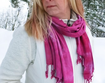Pink scarf, trending now, blanket scarf, oversized scarf, fuchsia winter scarf, vegan scarf, pink pashmina, girlfriend scarf, wife scarf