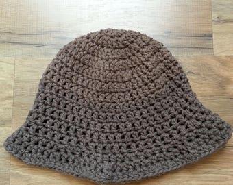 Earthy crocheted toddler sunhat