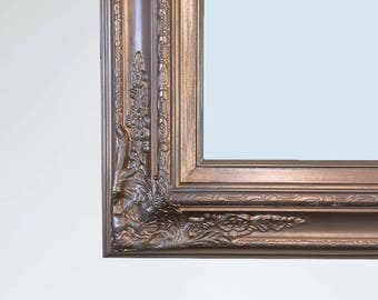 """LARGE BRONZE GOLD Framed Mirror For Sale Ornate 56""""x 32"""" or 62""""x32"""" Baroque Bathroom Mirror Long Rectangle Mirror French Country Home Mirror"""