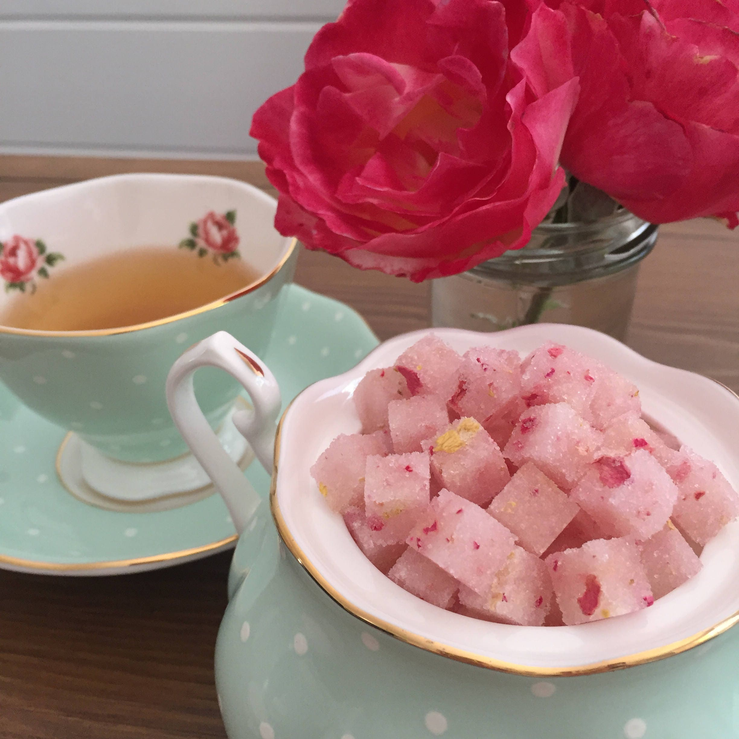 Rose Sugar Cubes for Tea Party High Tea Tea Gifts Party