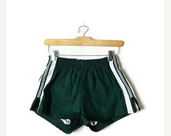 ON SALE Vintage Green Athletic Sports Shorts/track shorts from 70's/Deadstock*
