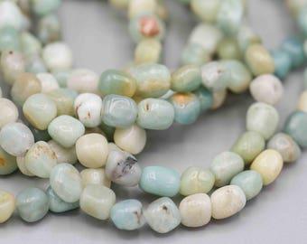 Amazonite Pebbles Gemstone Beads 7-8mm SKU-AMAZ-1