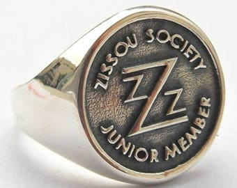 Life Aquatic Team Zissou Society Junior Member Ring Sterling Silver 925