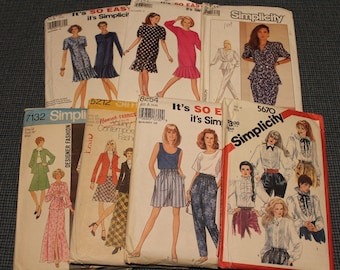 Simplicity Sewing Patterns ~ Uncut ~Factory Folds~ Instruction Book~Dresses ~ Skirts/Shorts~ Shirts~Pants ~ Designer Fashions ~Easy Patterns