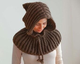 Brown Chunky Hood