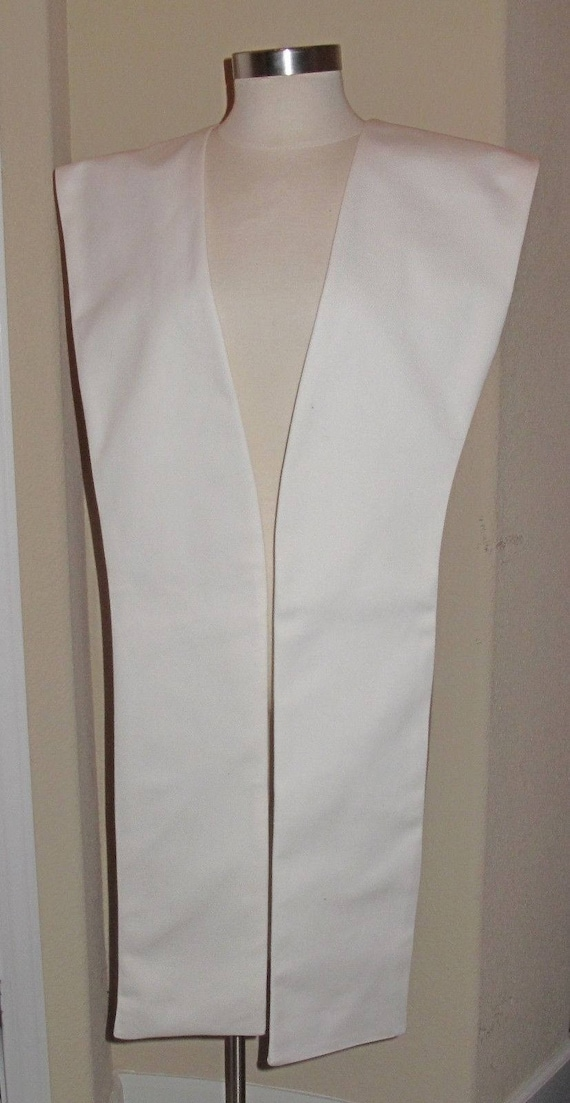 White poplin fabric tabards no sash in 10 sizes