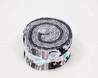 "Riley Blake ""Delilah"" 2.5"" Strips Jellyroll by Doodlebug Designs 40 pc"