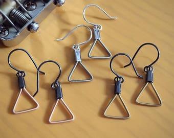 Mini Triangle Guitar String Earrings