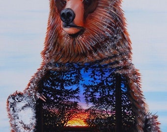 SOLSTICE BEAR . Prints . 2016