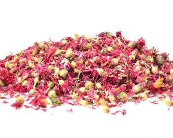 Pink Cornflower Flowers, 5g - 50g Dried, Rabbit Treat, Reptile, Chinchilla, Tortoise Food Supplies, Degu, Guinea Pig, Hamster, Dried Petals