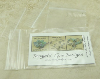 """2.5"""" x 4"""" Business Card Size Zip Lock Baggies Baggy Bags > For Jewelry, Beads, Small Items, Coins, Parts, Samples, Etc - QTY 100 Pieces"""